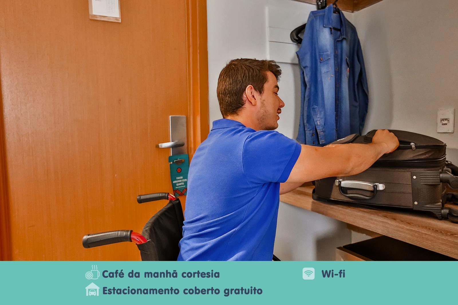 STANDARD ROOM – ADAPTADO 1 CAMA DE CASAL - MEGA MODA HOTEL GOIÂNIA