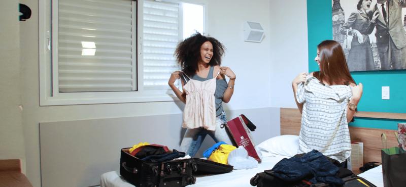STANDARD ROOM – 2 CAMAS DE SOLTEIRO - MEGA MODA HOTEL GOIÂNIA