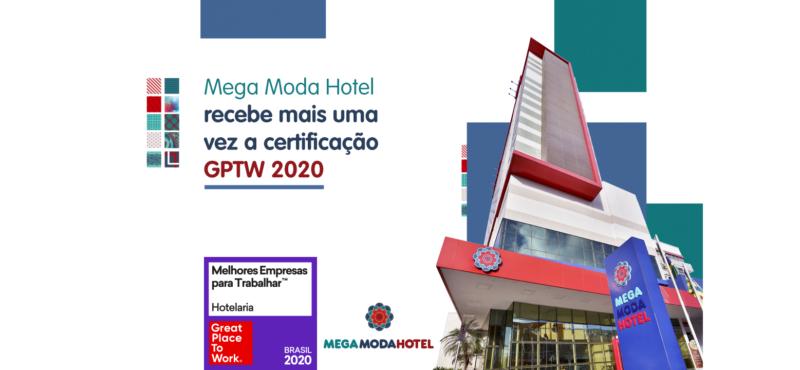 Mega Moda Hotel recebe mais a certificação GPTW 2020