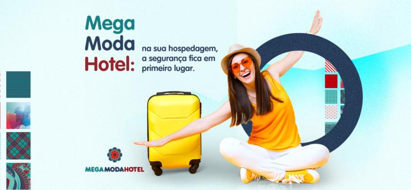 Mega Moda Hotel: na sua hospedagem, a segurança fica em primeiro lugar.